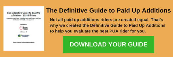guide reveals load fees for paid up additions riders