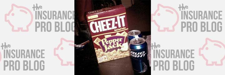 Beer and Cheez-its