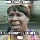 124 Certified Financial Planners do very little Planning