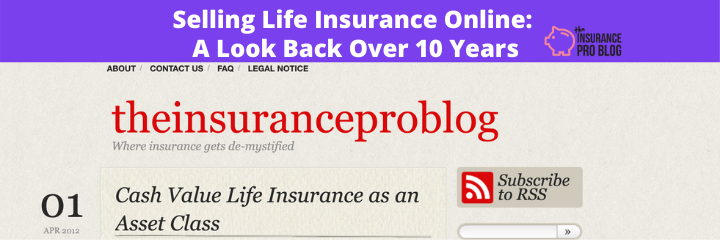 Selling Life Insurance Online: A Look Back Over 10 Years
